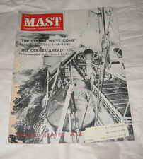 Rare copy of The MAST January 1946 US Maritime Service Magazine 48 pages.