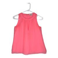 J Crew Women's 100% Silk Keyhole Back Sleeveless Tank Top Blouse Pink Size 00P