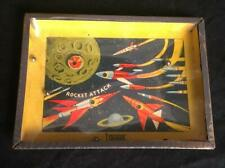 Vintage Colmor Rocket Attack Space Rocket Dexterity Puzzle Beautiful Graphics