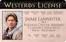 Jaime Lannister GAME OF THRONES Nikolaj Carter WESTEROS  card Drivers License