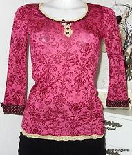 Vive María camisa Summer of Love camuflaje XS 34 top rojo red punta de nuevo