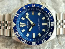 VINTAGE BLUE FACE MODDED SEIKO DIVER 7002-7000 AUTOMATIC MEN'S WATCH 670250