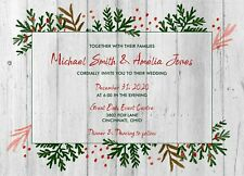 Winter Greenery Wedding Invitations 50