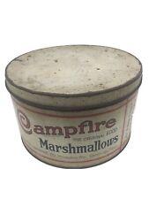 Vintage CAMPFIRE Marshmallows Tin Milwaukee