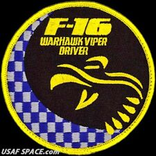 USAF 195TH FIGHTER SQ - F-16 WARHAWK VIPER DRIVER - Tucson ANGB - ORIGINAL PATCH