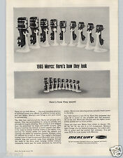 1965 PAPER AD Mercury Outboard Motors Mercs Motor Boat Engine 9 Model Images