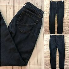 Not Your Daughters Jeans NYDJ Straight Leg Dark Wash Blue Denim Lift Tuck Size 6