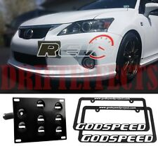 LEXUS CT200H IS250 IS350 GS350 GS460 LICENSE PLATE MOUNT KIT TOW BRACKET+FRAMES
