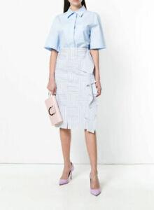 Designer BNWOT Victoria Victoria Beckham Size 10 Ruffle Detail Women's Skirt
