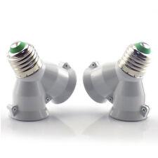 E27 1 to 2 E27 LED Light Bulb Lamp Adapter Converter Split Splitter Base Socket