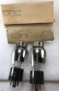 "2, NOS NIB, RCA USAF 5U4G, tall shouldered bottle, ""ST Shape""   *1955*"