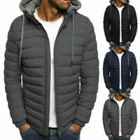 Men's Hoodie Padded Coat Jacket Puffer Bubble Winter Warm Coats Zip Up Outwear