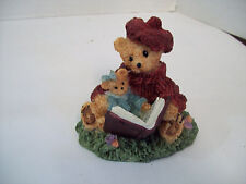 """Story Time Bear Mother and Daughter Book """"How Do I Love Thee"""" Figurine"""