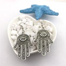 Hand of Fatim Charm Earrings Tibet silver Charms Earrings Charm Earrings for Her
