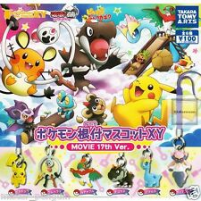 Pokemon XY FULL SET6 Netsuke Mascot Strap Cell Phone Capsule Figurine Toy Movie