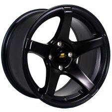 MST Wheels MT09 Rims 15x8 4x100 +20 Offset 73.1 Center Bore Concave Matte Black