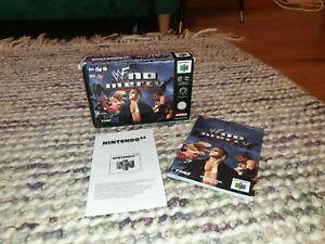WWF No Mercy Nintendo N64 Box, Manual & Inlay ONLY PAL *NO GAME*