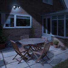 Battery Powered PIR Motion Sensor Wireless Security LED Wall Light 2x Spotlight