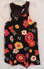 NWT Gymboree Girls Brown  Corduroy Dress Sleeveless w/ Spring flowers 7T
