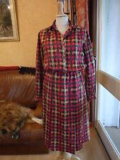 ROBE CHEMISIER SOIE T 36/38 VINTAGE 60's SILK DRESS size S