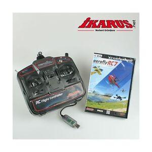 ikarus Flugsimulator AeroFlyRC7 - Aero Fly RC 7 Ultimate - DVD mit USB-Commander