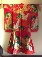 Antique Japanese Kimono, hand embroidered