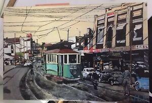 1958 Sydney D Class Scrubber Tram 118 - Original Acrylic Painting