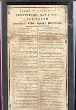 1841 Broadside, Death of President Harrison, Newburyport, MA, Responsive Sermon