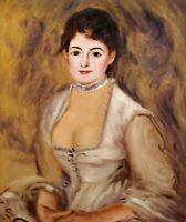 Renoir Madame Henriot Portrait Repro, 100% Hand painted Oil Painting 20x24in