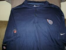 54a4f0f47e82 NFL Tennessee Titans Nike Dri Fit Elite Coaches Blade Polo Golf Shirt Men s  3xl