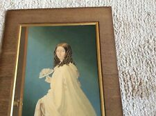 The Bridesmaid Antique George Baxter Print Mounted Picture Victorian