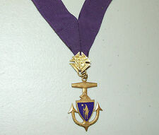 Vintage Massachusetts Knights of Columbus PAST GRAND KNIGHT Medal with Ribbon