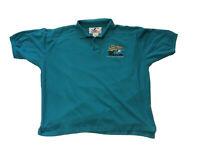 VTG 1997 World Series Champions Florida Marlins Baseball Polo Shirt XL