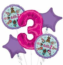New Lol Surprise! 3Nd Third Birthday Party Favor Supplies Balloon Bouquet 5pc