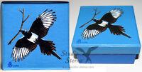 Hand bemalte Schachtel Elster Vogel Kunst Tier hand painted box magpie bird art
