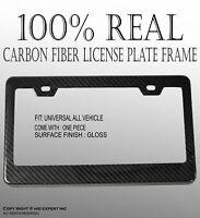 JDM Style 2 pcs REAL CARBON FIBER LICENSE PLATE FRAME TAG COVER ORIGINAL 3K A1