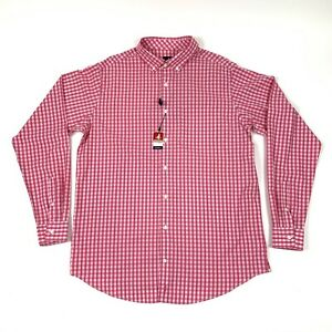 Johnnie-O Prep-Formance Caliente Gingham Plaid Button-Down Shirt Size L Tall NWT