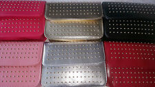 Joblot of 12 pcs Imitation Leather Studded Handbag mix colour NEW