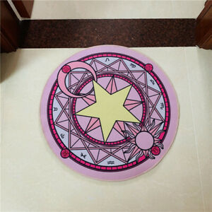 Cardcaptor Sakura star pink circle Rug Carpets Floor Mats Rugs mat anime gift