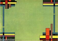 STOCK CRATE LABEL RARE ART DECO MONDRIAN ROESCH 1930S ORIGINAL GRAPHIC DESIGN