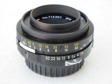 Nikon Nikkor 45mm f:2.8 GN lens with LOGO rear cap and hood, shade, MINTY LQQK