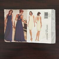 Vintage 1990s Butterick 4797 Ricco woman's evening cocktail dress sizes 12-16