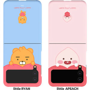 Genuine Kakao Friends Little Sweet Heart Cushion Galaxy Z Flip3 Hard Case Korea