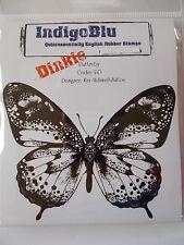 INDIGOBLU DINKIE RUBBER STAMP - FLUTTERBY - BUTTERFLY