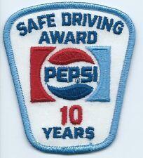 Pepsi Safe Driving Award 10 Years. 3-1/2X3X2 in