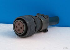 JAE 4 PIN CONNECTOR FEMALE MS3106B18-10S-ZN + CABLE CLAMP FANUC CNC MILITARY