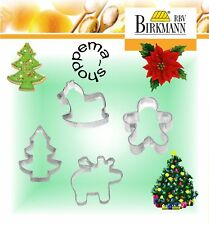 Emporte-pièce gâteaux Noël 4 fer-blanc, Birkmann