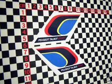 2 x pts Peugeot Talbot Sport Autocollants 205 GTI 309 rallye