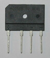 15 Amp 600 Volt Low Profile Bridge Rectifier - 600V 15A Inline Compact Rectifier