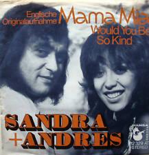 """7"""" RARE ! SANDRA & ANDRES Mama Mia /sung ENGLISH ! VG+"""